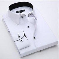 designer mens clothing - New Fashion Spring Classic Men Striped Dress Shirt Long Sleeve Turn down Collar Regular Fit Mens Shirts Designer Clothes