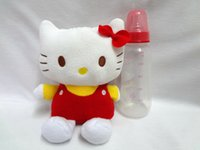 Wholesale Baby Milk Bottle Covers Keep Warm Holders Fleece Plush Toys Gifts Animal Portable Insulated Therma Maternity Feeding Nursing Bags KITTY