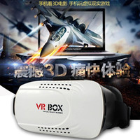 Wholesale VR BOX VR WORLD Version VR Virtual Reality Glasses Rift Google Cardboard D Movie for iphone samsung huawei lg factory outlet