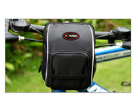 Wholesale 2016 Brand New Outdoor Cycling Multifunction Bicycle Front Basket Frame Tube Bike Handlebar Bag Black
