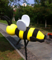 bee carbon fiber - New Hot Lovely Yellow Bee Antenna Ball For Car Antenna Decoration Exterior Accessoris Cartoon Antenna Topper Honey Antenna Ball