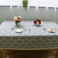 Wholesale 1pc New Table Cloth Table Cover Wedding Party High Quality Dustproof Lace Tablecloth Decorative Elegant Table Covers cm