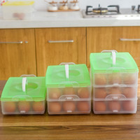alps products - Egg Food Container Storage box plastic Bilayer Basket organizer home kitchen Gadgets Items Accessories Supplies Products