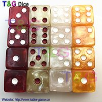 Wholesale set T amp G mm Multi Colored Standard Dice Set with Marbled effect brinquedos Game juegos de mesa dados d6 dnd dices set