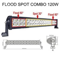 Wholesale 120W Led Spot Flood Combo Alloy Work Bar Diving Light Lamp ff Road WD Boat