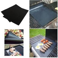 bbq grilling sets - 2pcs Set PTFE Non stick BBQ Grill Mat Barbecue Baking Liners Reusable Teflon Cooking Sheets cm Cooking Too