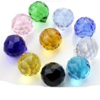 Wholesale 500pcs mm mixed color crystal prism parts ball with hole for wedding chandelier garland strand