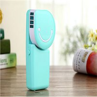 Wholesale 2016 New arrival Fashion USB Mini Hand Held Fan Mini Portable Hand Held Air Conditioner Handy Cooler