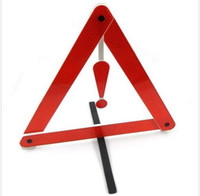 Wholesale PVC Folded Reflective Signs Auto Car Warning Triangles for Tripod Fault Prompt pc