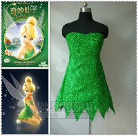 adult tinkerbell costumes - Custom Made Adult Princess Tinkerbell Dress Fancy Dress Movie Cosplay Costume No Include Wings
