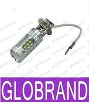 achat en gros de ampoules foglight h3-Nouvelle voiture d'arrivée ampoule led brouillard led lentille voiture foglight conduit ampoules de voiture DC12-24V 80W blanc 6500K h3 livraison gratuite GLO366