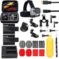 Wholesale 14 in Bike SJCAM Accessories Bundle For SJ CAM SJ4000 SJ5000 SJCAM Battery Dual ChargerHead Strap Floating Grip Clip Mount