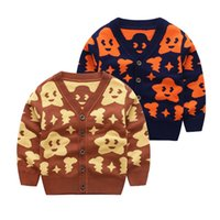 Wholesale New arrival Kids sweaters coat Stars knitting cardigan coats V neck Boys Autumn Spring cotton clothes children