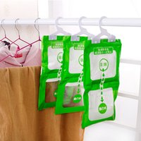 Wholesale Hot Household Cleaning Tools Chemicals Be hanging wardrobe closet bathroom moisture absorbent dehumidizer desiccant Dry bag NEW