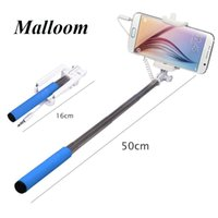 Wholesale Sannysis cm Newly PC Mini Built in Shutter Extendable Self Selfie Stick Monopod Cable Holder for iPhone Android smartphone