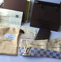 Wholesale 2016 High quality lv belts with box and dust bags New Fashion Belts Women Buckles Leather Womens Men Belts For Wen Woman
