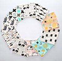 Wholesale 2016 Autumn Winter INS Baby Cotton Scarves Cute Kids Accessorices Cartoon Tiger Fox Animals Neckerchief Boys Girls Ring Wraps Collar Scarf