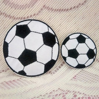 baby decorating games - Football Soccer Game Match Sports Polo Shirt Iron On Patch Applique Black White Kids Toy Gift baby Decorate Individuality pc