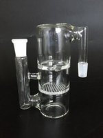 ac turbine - 14 MM Joint ash catcher with fritted disc and turbine perc for glass bong glass smoking pipe AC