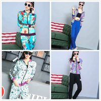 baseball ads - New AD Official Brand fashion sportswear Women Tracksuit Arrival Spring Autumn Girl Long Sleeve ladies Sports suit Leisure Outfits size M XL