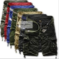 Wholesale Men Brand Summer Casual Camouflage Pants Cargo Military Shorts Outdoor Loose Running Shorts Men Army Short Pocket Pants New Plus Size