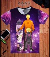 anime tshirts - Anime D T shirt Cotton Fitness Summer Style T Shirt Naruto Anime Movie Tshirts Hip Hop One Piece T Shirts