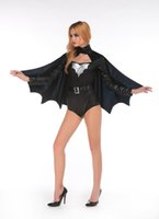 adult bat costume - Hot Sale Sexy Batgirl Costume Womens Sexy Adult Halloween Bat Costume Black Women Sexy Halloween Costumes F66176