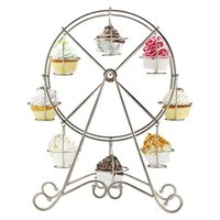 Wholesale Ferris Wheel Cups Silver Cupcake Stand Holder Decorating Wedding SuppliesHot New