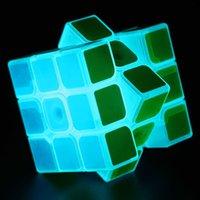Wholesale Z cube x3x3 Noctilucent Magic Cube TranslucentNew Cube Puzzle Toy Noctilucent Blue Light Classic Toy For Boys
