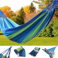 Wholesale Fast Delivery Outdoor Hammock Canvas Soft Woven Portable Bed Travel Camping Hammock for Backyard Porch Outdoor or Indoor with carry bag