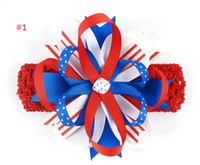 american flag accessories - American flag headbands toddler bow headbands girls cute bow hair band infant lovely headwrap newborns hair accessories styles