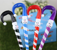 Wholesale whiilesale cartoon umbrella funny face clown ballpoint pen Christmas gifts Christmas Snowman ballpoint pen cap