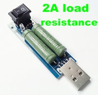 Wholesale portable USB charge current detection A load resistance power resistors mobile power resister module with switch tester