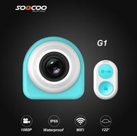 Wholesale Soocoo G1 Mini Action Sports Camera Degree Wide Angles P H Build in Speaker Mic Wifi HD Car Dvrs Christmas Gift