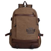 Wholesale Luxcel School Youth Trendy canvas school bag new casual backpack for men Outdoor Hiking Camping Cycling rucksack bag