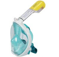 Wholesale iRunzo Easy Free Breathe Full Face Snorkel Mask for Adults Youth Surface Diving Swimming Pool Seaview Dry Top Scuba Goggles Kit Gear