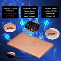 Cheap 2016 5Gen CPU China Factory Sells Cheap and Quality Fashion Notebook Laptops Deals Gold 13.3 inch HD 1080P Screen Fanless Mini Netbook
