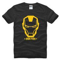 armored short - WISHCART Iron Man Armored Avenger Helmet Printed Mens T Shirt T shirt Fashion New O Neck Cotton Tshirt Tee Camisetas Masculina