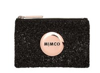american hip hop - FREESHIPPING MIMCO LOVELY BLACK SPARKS ROSEGOLD LOGO SMALL POUCH COIN POUCH PHONE POUCH TOP QUAILITY