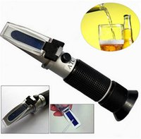 Wholesale 0 Brix Wort Specific Gravity Refractometer Beer Fruit Juice Wine Sugar Test