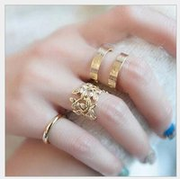 articulation joints - Fashion Jewelry Hot Seller Tree Leaf metal articulation rings Three Pieces Metal Joints Rings J031 Valentine s Day Gift cheap