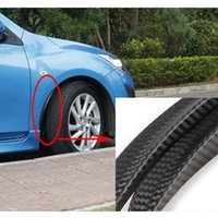 Wholesale Universal Carbon Fiber Mudguards Fiber Side Fender ABS Wheel Lip Fender Flares Carbon Fiber Look Car Side Fender Mud Guard
