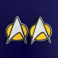 Transferts tshirt France-GP-59 vente chaude! Vente en gros 5 * 6cm STAR TREK patches Star Fleet Iron / Coudre Patch T-shirt TRANSFERT MOTIF APPLIQUE Punk Rock Badge
