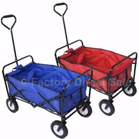 Wholesale Collapsible Folding Wagon Cart Garden Buggy Shopping Beach Toy Sports Red Blue TL29217