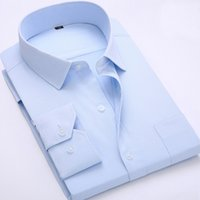 casual shirts for men - Long Sleeve Twill Dress Shirts For Men Solid Casual Social Business Shirts Slim Fit High Quality Chemise Homme White Blue Pink