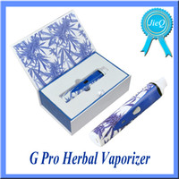 Wholesale Rechargeable Snoop Dogg G Pro Herbal Vaporizer Blue White mah Built in Battery G pro Dry Herb Ecigarette