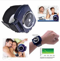 Wholesale Infrared Intelligent Snore Stopper Process To Reduce Snoring Anti snore Apparatus Wrist Electronic Snore Stopper W with box