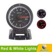 auto exhaust temperature - 60mm Car D fi CR Exhaust Gas Temperature Gauge EGT EXT With Sensor Black Face Red White Lighting LED Car Meter Auto Gauge