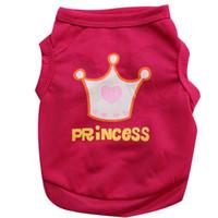 apparel crowns - New Princess Crown Dog Apparel Fashion Cute Dog Vest Pet sweater Puppy Shirt Soft Coat Jacket Summer Dog Cat Clothes