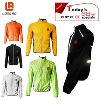 Wholesale 2016 LONG AO Windproof Reflective Safety Breathable Windproof Cycling Clothing Bike Classic Cycling coat Bicycle Cycle Jersey Jacket
